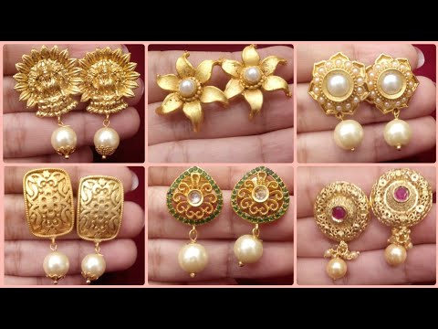 FLAR Rs300 1Gram Gold Earring Collections |Beautiful Stud Earring Designs