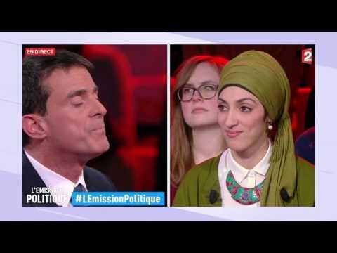 """Manuel Valls """"Je m'inquiète d'un voile porté comme un étendard politique"""" - L'émission politique"""