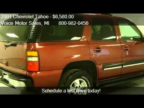 2001 chevrolet tahoe lt 4x4 for sale in kalkaska mi for Voice motors kalkaska michigan