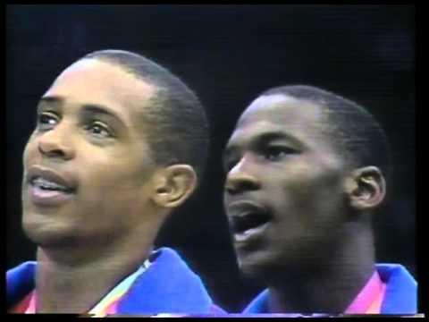 Olympics - 1984 Los Angeles - Basketball - Mens Medal Ceremony - USA Gold  imasportsphile