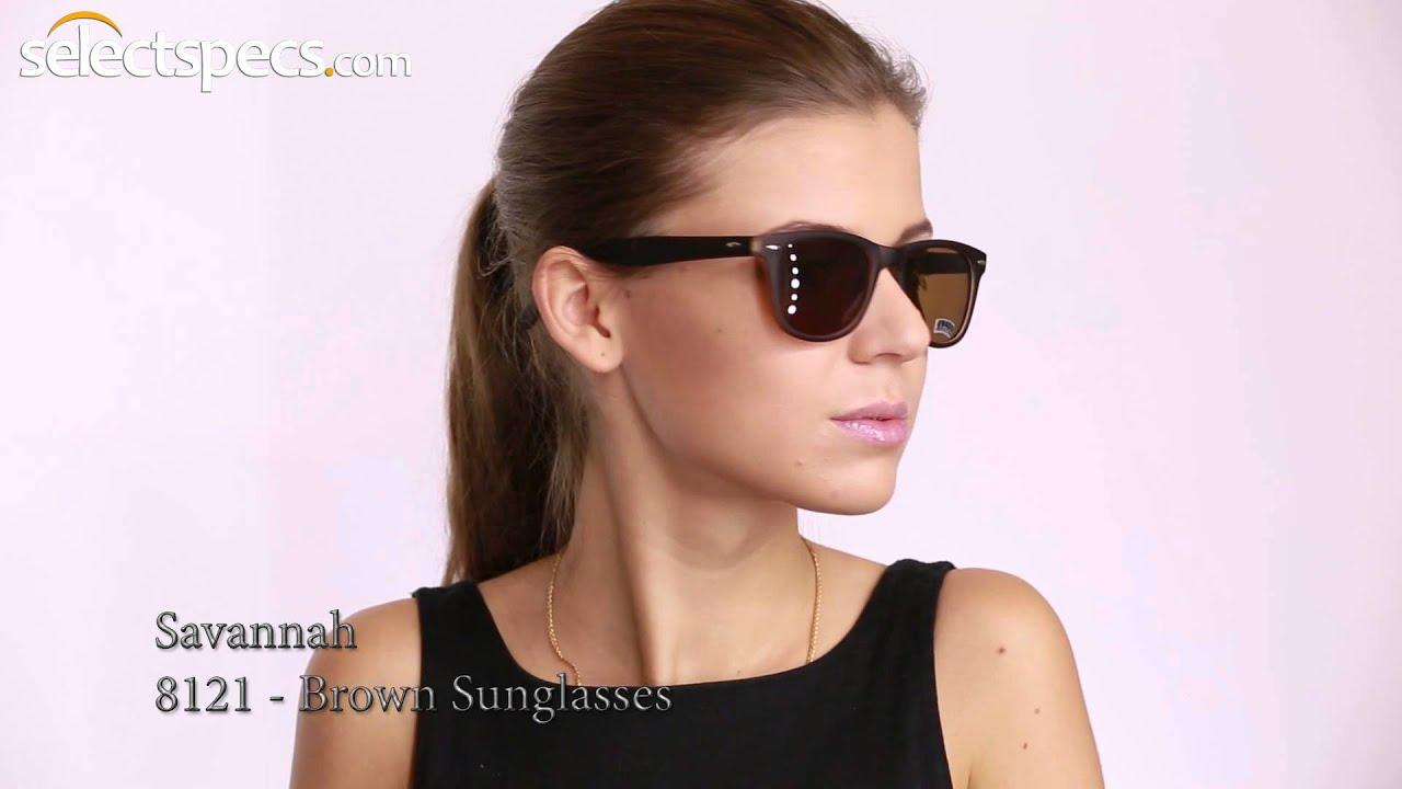 87510f4cfc8 Wayfarer Style Sunglasses for Ladies - Savannah 8121 (Brown) - YouTube
