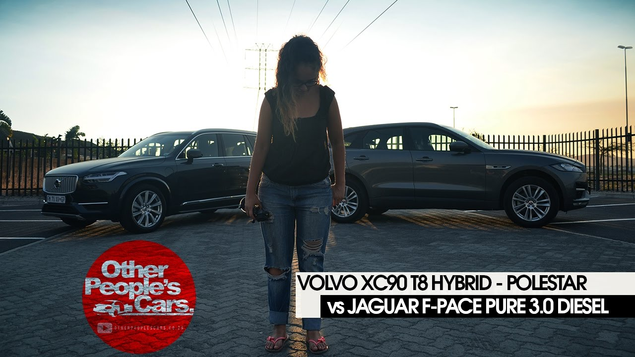 Jaguar F Pace 3 0 Diesel Takes On The Volvo Xc90 T8 Hybrid Youtube