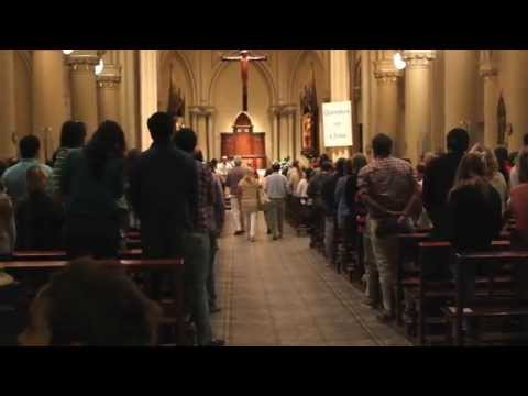 Sunday evening prayer in Catedral de San Isidro, Buenos Aires, Argentina