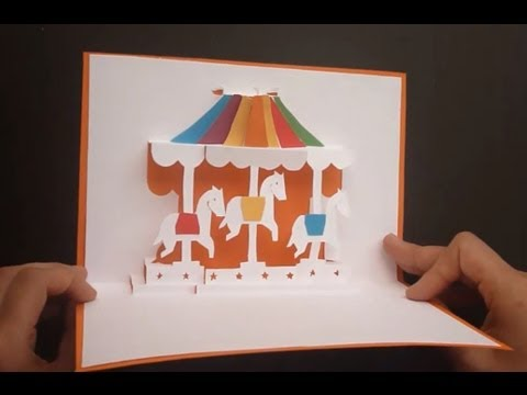 Merry Go Round Carousel Pop Up Card Tutorial Origamic