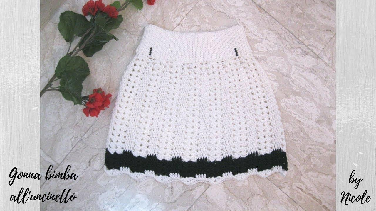 Gonna Bimba Alluncinetto Per Tutte Le Taglie Crochet Baby Skirt