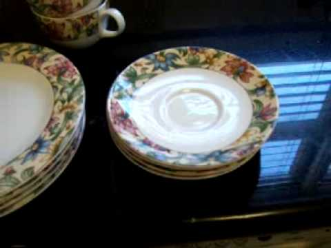 Royal Doulton everyday fine china set & Royal Doulton everyday fine china set - YouTube