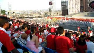 Singapore National Day Parade 2009 - Mixed school Choir (first appearance) + Arrival of MP