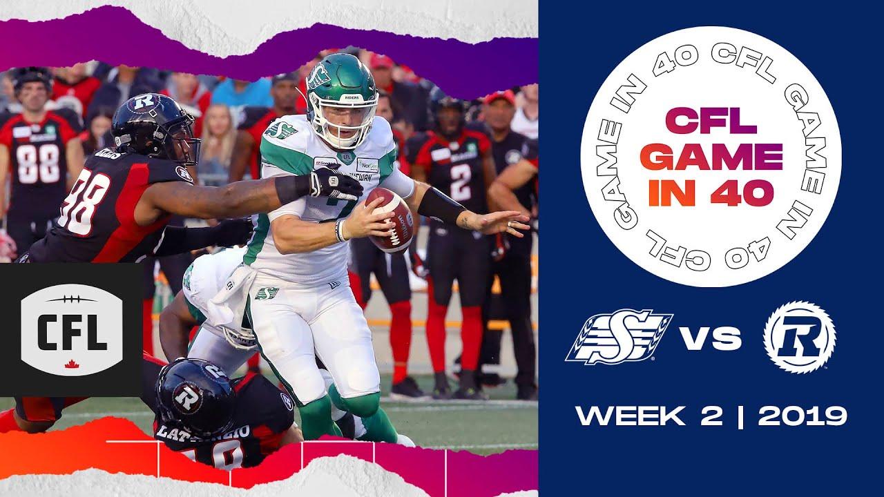 CFL Game in 40: Saskatchewan @ Ottawa | 2019, week 2