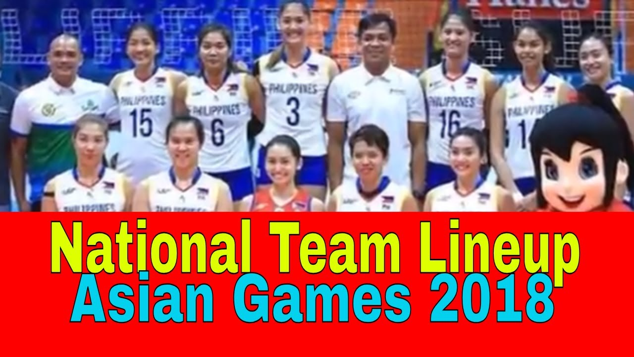 Philippine National Team Women S Volleyball 2018 Asian Games Youtube