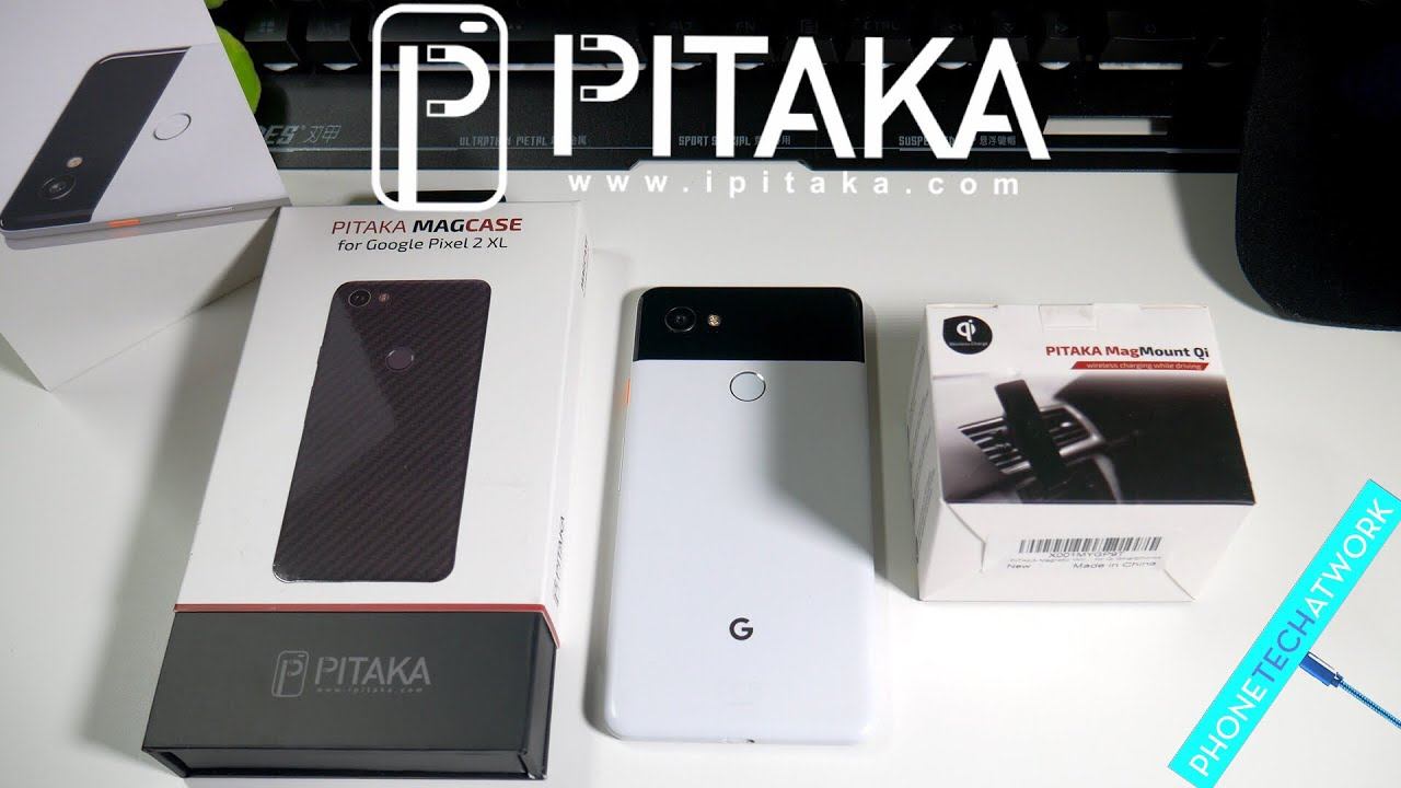 google pixel 2 xl pitaka magcase and wireless charging car. Black Bedroom Furniture Sets. Home Design Ideas