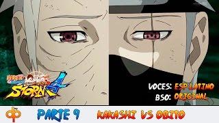 Kakashi vs Obito Español Latino - Naruto Shippuden Ultimate Ninja Storm 4 Parte 9 Gameplay