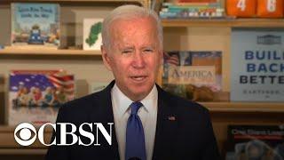 President Biden promotes his social spending plan while it hangs in limbo in Congress