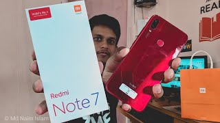 Redmi Note 7 Red Colour Indian Variant Unboxing | Mi Home offline | 4GB | Snapdragon 660