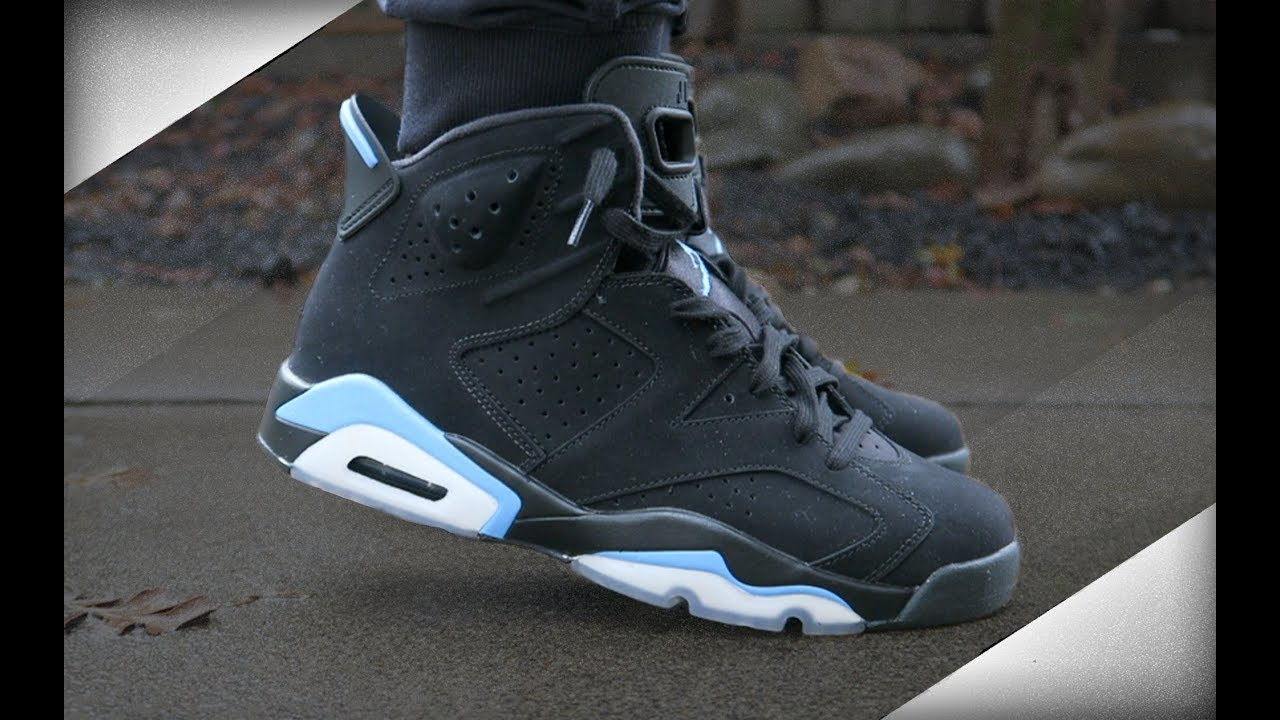 sale retailer a6f2e 6cc94 Air Jordan 6 Black University Blue