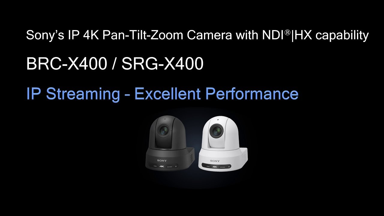 Sony 4k Ptz Camera Brc X400 Srg X400 Ip Streaming Excellent