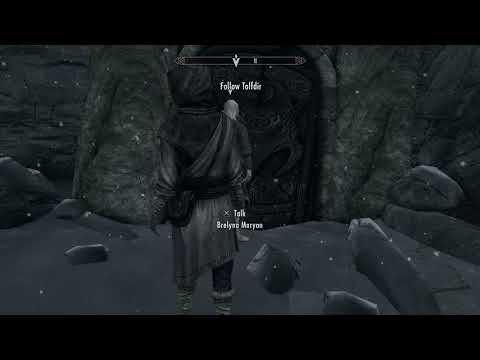 Skyrim Special Edition - Under Saarthal: Meet Tolfdir Outside: Enter Excavation Dialogue Tree PS4Pro