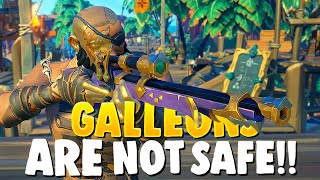 GALLEONS are NOT SAFE FROM our SLOOP!!(Sea of Thieves)