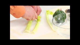 Как почистить и нарезать стебли сельдерея соломкой / от шеф-повара / Илья Лазерсон / Мировой повар