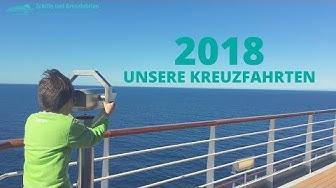 Unser vorläufiger Fahrplan 2018: Kreuzfahrten & Schiffe