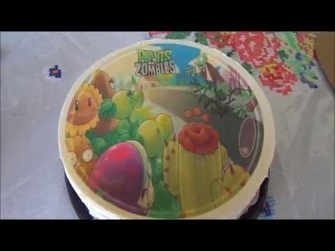 Pastel de 5 tazas decorado de plantas vs zombies youtube for Cuartos decorados de plants vs zombies