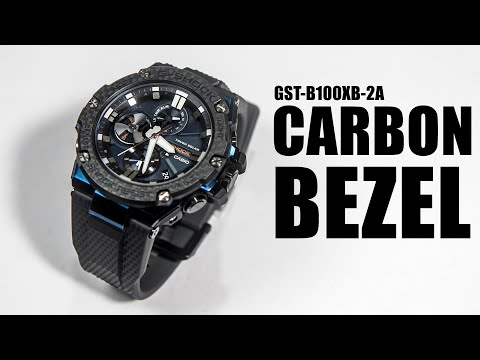 NEW ERA OF CARBON BEZEL - G-SHOCK G-STEEL GST-B100XB-2A
