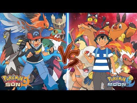 Pokemon Sun and Moon: Ash Vs Ash (Flying Type Vs Fire Type)