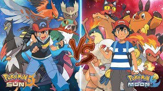 Pokemon Sun and Moon: Ash Vs Ash (Flying Type Vs Fire Type)