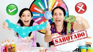 DESAFIO DA ROLETA MISTERIOSA DE SLIME SABOTADO ★  The Mystery Wheel of Slime Challenge com a Mamãe thumbnail