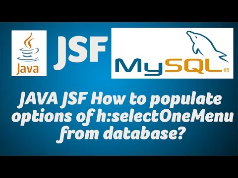 JAVA JSF How to populate options of h:selectOneMenu from database?