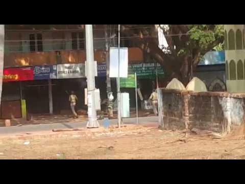 Police atrocity in Kasarkod