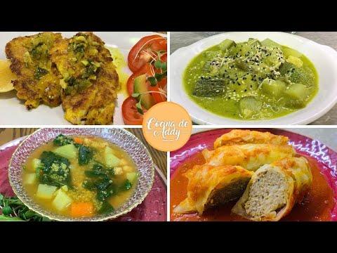 Menú Semanal para DIABETES, HT, Hígado Graso (Almuerzos-Cenas) Fácil y Económico | Cocina de Addy
