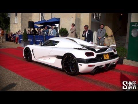 Salon Prive 2013 Supercar Parade - Huayra, Agera, Veyron, CTR3 and more