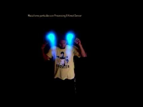 Processing & Kinect Sensor: Testing Blending Particles by Iván Macuil Priego