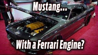"""Mustang with a Ferrari Engine - """"Corruptt Mustang"""""""