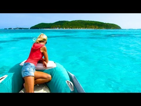 Dinghy Tour of beautiful Isla Palominos in the Spanish Virgin Islands, Caribbean