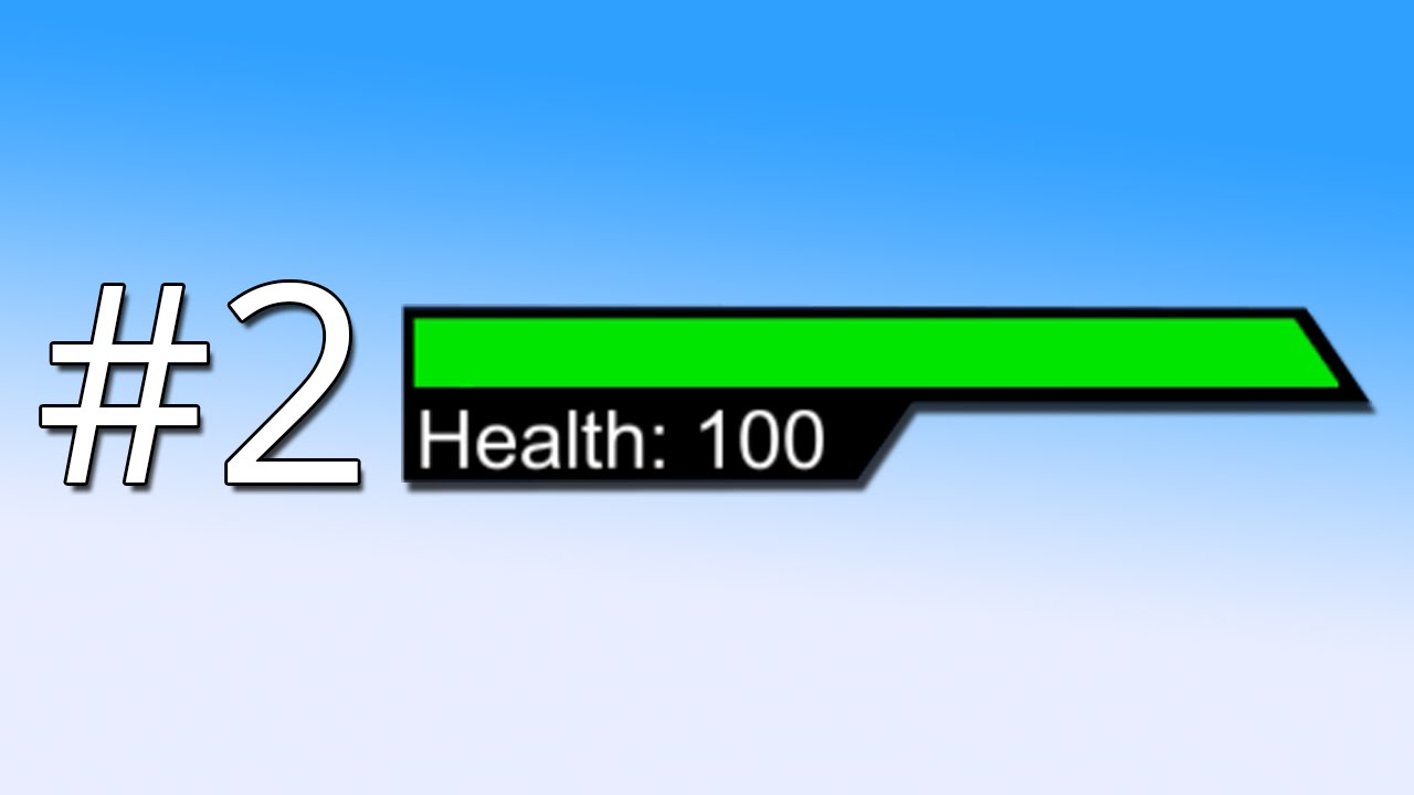 2  Unity Tutorial: Creating a health bar - Lerp and scale with screen size