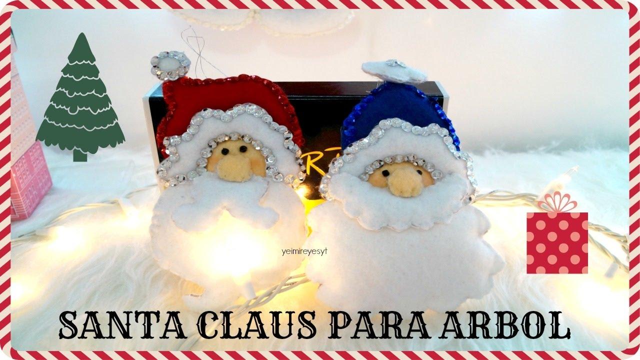 Santa claus en fieltro manualidades para navidad i yeimi vlogmas youtube - Manualidades en fieltro para navidad ...