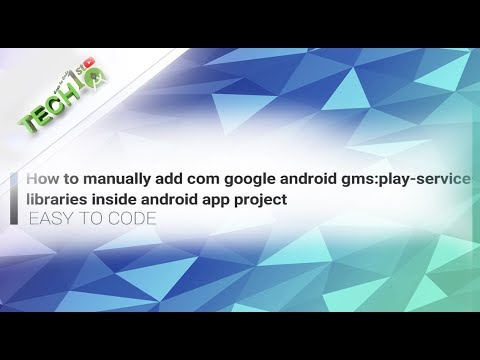 How To Manually Add Com Google Android Play-services Libraries Inside Android App Project