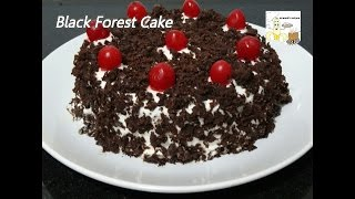 Black Forest Cake Recipe without Egg in Pressure Cooker