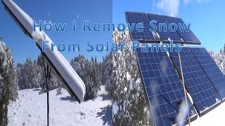 Remove Snow from Solar Panels