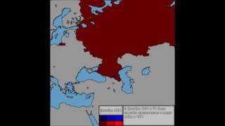 Первая Чеченская война (1994-1996) каждый месяц