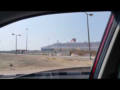 Queen Mary 2 Cruise ship at Port Rashid in Dubai 18.04.2017