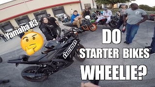 Yamaha R3 Test Ride - Will it Wheelie?