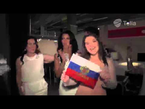 EUROVISION EXCLUSIVE! Backstage interview right after performence of Dina Garipova - Russia