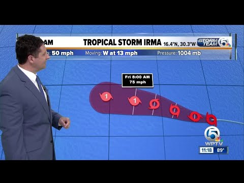 Tropical Storm Irma forms in the eastern Atlantic Ocean