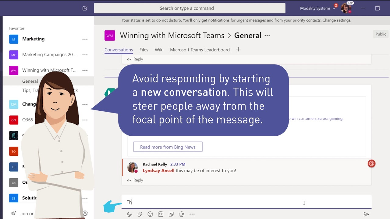 New tools, new rules - Effective communication in Microsoft Teams