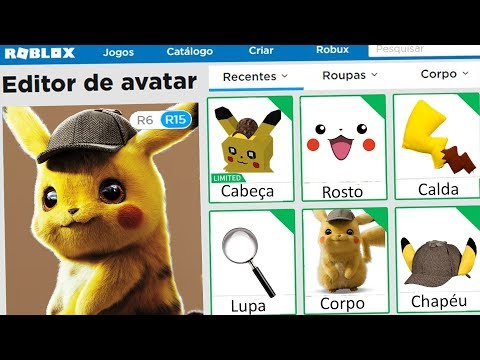 CRIEI O PERFIL Do DETETIVE PIKACHU No ROBLOX