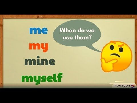 Me, My, Mine, And Myself | English Lesson