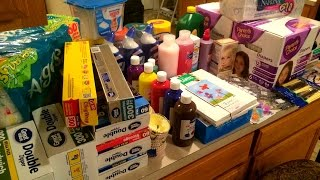 Once-A-Month Household & Homeschool Supplies Shopping Haul | Walmart 7/16