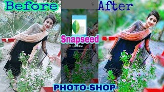 💌 Snapseed HD colourful🌷 Stylish Editing Tutorial | #Bokeh  #LAB_Editing
